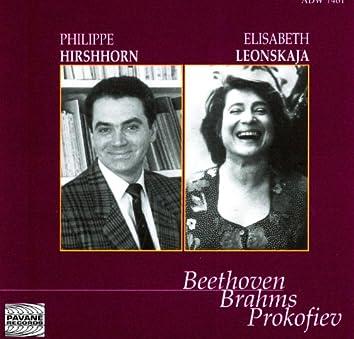 Beethoven, Brahms & Prokofiev: Hirshhorn & Leonskaja in Concert At the Concertgebouw, Amsterdam, 1993