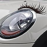 Eillybird - Adesivi 3D per auto, a occhio lungo, per fanali, confezione da 2 pezzi, colore nero