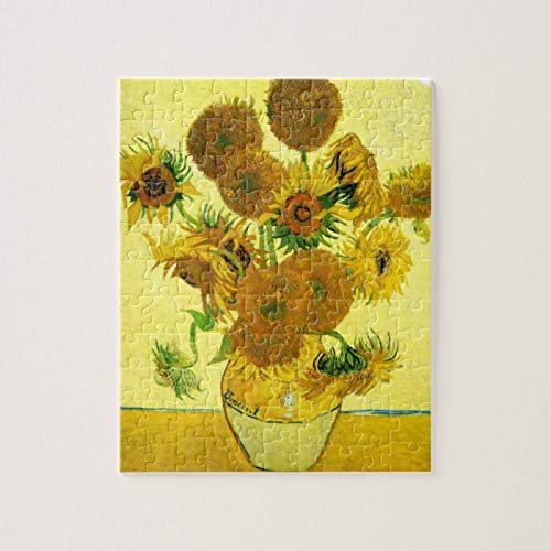 Van Gogh Sunflowers Puzzles for Adults, 1000 Piece Kids Jigsaw Puzzles Game Toys Gift for Children Boys and Girls, 20