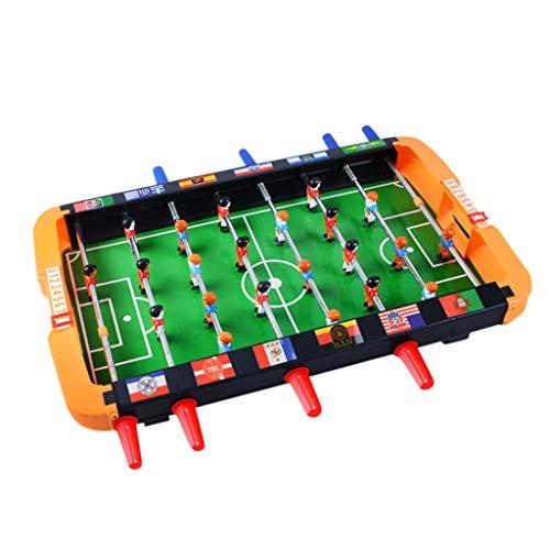 ErYao Tabletop Foosball Table- Portable Mini Table Football/Soccer Game Set- Compact Mini Tabletop Soccer Game (Orange)