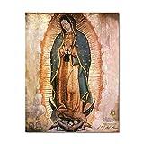 IFUNEW Lona Pared Arte El Día de la Virgen de Guadalupe en México Wall ation Unframed 60x90cm
