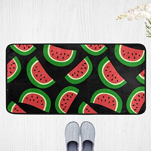Alfombra de cocina acolchada – sandía roja alfombra de pie antideslizante alfombra lavable anti fatiga acolchada decoración 51 x 99 cm