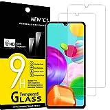 NEW'C 2 Unidades, Protector de Pantalla para Samsung Galaxy A41, Antiarañazos, Antihuellas, Sin Burbujas, Dureza 9H, 0.33 mm Ultra Transparente, Vidrio Templado Ultra Resistente