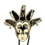 Máscara veneciana de bufón, estilo vintage para disfraz de Halloween, cosplay, para fiestas,...