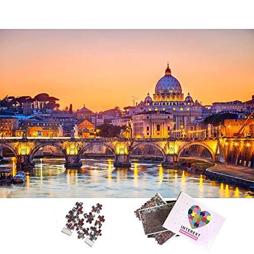 WAXJY Puzzle in Legno per Adulti 1000 Pezzi Splendido Paesaggio Veneto Puzzle Educativo Assemblaggio Giochi per Bambini Regalo di Decompressione