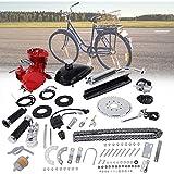 Yrmup Gas Motor Kit,Bicycle Engine Motor Kit Bicycle Scooter Conversion kit 80CC 2 Cycle Gas Motor Motorized Engine Bicycle Moped Scooter Kit DIY Conversion Set