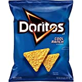 9.75 oz. Bag of Doritos cool ranch flavored tortilla chips Bold and zesty flavor make this a tasty snack Crunchy and delicious tortilla chips Crunchy chips and boldness make Doritos snacks awesome