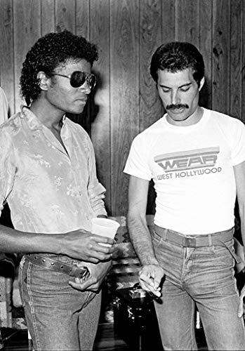 Tainsi Freddie Mercury e Michael Jackson Poster(11x17inch,28x43cm)