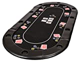 Riverboat Gaming Clásico Tablero de póquer Plegable - Mesa de Poker en Suited...