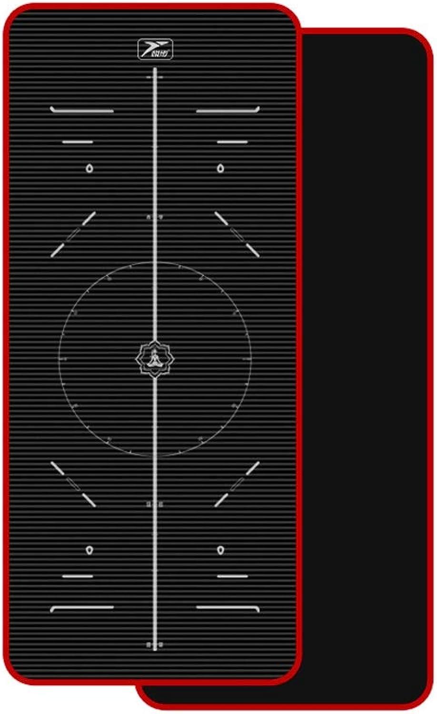 SPFOZ Yogamatte Yogamatte Anfnger 10mm15mm lang Rutschfeste Fitnessmatte Mnner und Frauen Yogamatte Decke dreiteilig (Farbe   Schwarz, gre   15mm)