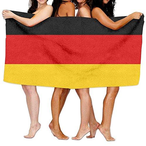 AGHRFH Strandtuch Flagge Deutschland 80 cm x 130 cm weich leicht saugfähig für Bad Schwimmbad Yoga Pilates Picknickdecke Handtücher