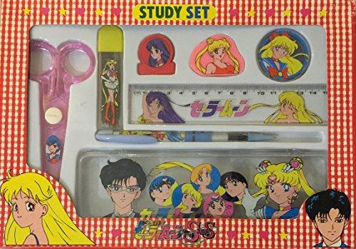 Sailor Moon Super S Study Set White Pencil Box