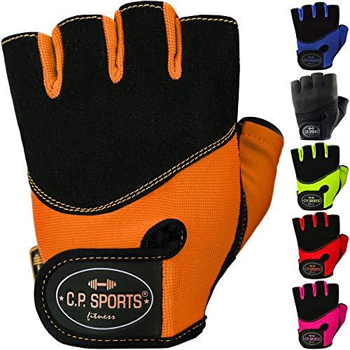 C.P. Sports Iron Gants de confort Gants d'entrainement Fitness Gants pour homme et femme, orange fluo