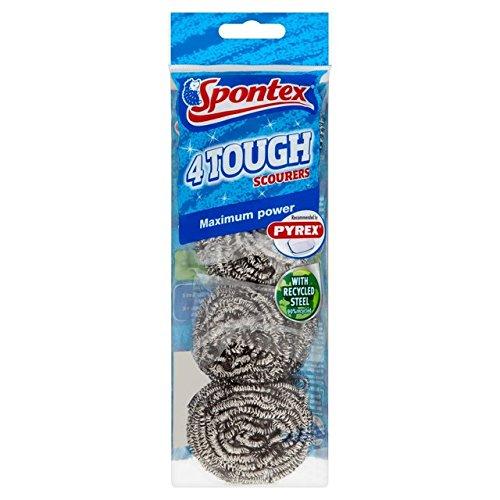 Spontex rigide grattante 4 par paquet