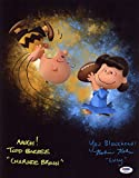 TODD BARBEE & ROBIN KOHN SIGNED 11x14 VOICES CHARLIE BROWN LUCY PEANUTS PSA/DNA