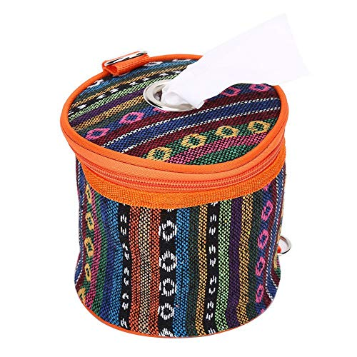 VGEBY Étui en Tissu, étui en Tissu Style Ethnique Classique lingettes boîte Sac de Rangement Papier Rouleau pour Camping randonnée Bureau à Domicile