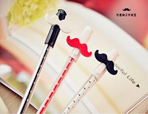 Set de 3, stylo de mode créatifs mignons de gel coiffant moustache rétro (les couleurs peuvent varier)