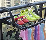 FLYNGO Foldable Stainless Steel Clothes Hanger Stand for Drying for Balcony, Window, Guardrail