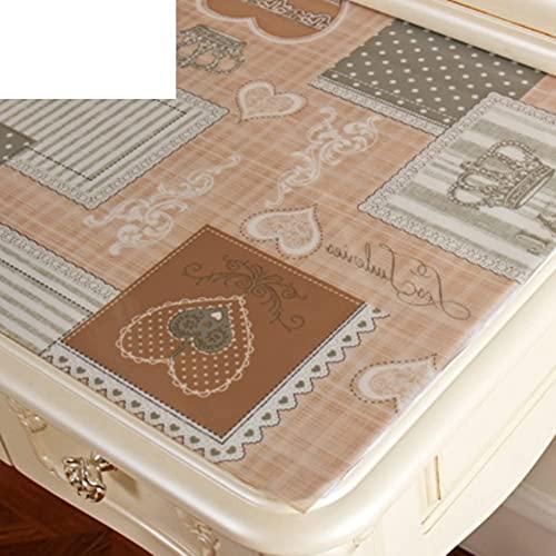 KMILE Cómoda Mantel Impermeable de Vidrio Suave Estilo Europeo PVC TV Gabinete de algodón Mantel desechable Noche Mesa de Mesa-E 20x63inch (Color : G, Size : 50x100cm(20x39inch))