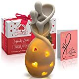 Infinity Love Candle Holder Statue with Flickering Led Candle