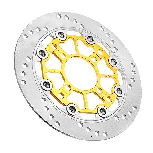 LMIAOM 220mm Aluminiumlegierung Schwimmende Bremsscheibe Nachgerüstetes Motorrad for Vorderradbremsscheibe Reparaturwerkzeug für Zubehörteile