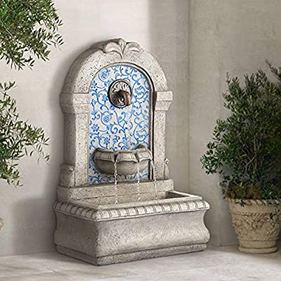 "John Timberland Manhasset Outdoor Wall Water Fountain 30 1/4"" High Free Standing Tiered for Yard Garden Patio Deck Home"