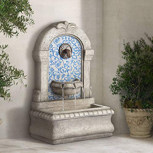 John Timberland Manhasset Outdoor Wall Water Fountain 30 1/4' High Free Standing Tiered for Yard Garden Patio Deck Home