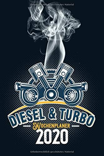 Wochenplaner 2020: Terminplaner 2020 | Jahreskalender A5 | Timer | Werkstatt Auto Tuning Geschenk | 160 S. | A5 | Motor Diesel Turbo Cover