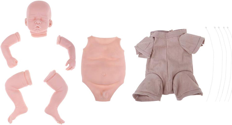Prettyia Real Touch Silicone 20inch Reborn Boy Doll Supplies Unpainted Newborn Baby Mold Head Limb Body Doll DIY Handmade