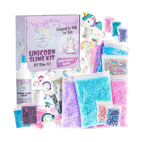 Unicorn Slime Kit for Girls - Ultimate DIY Slime Making Kit and Add Ins to Make Rainbow Unicorn Slime, Crystal Unicorn Slime, and Unicorn Poop Slime, Ages 6-12 3