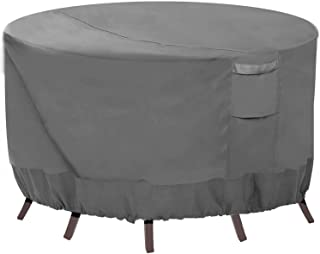 Vailge Round Patio Furniture Covers, 100% Waterproof Outdoor Table Chair Set Covers, Anti-Fading Cover for Outdoor Furnitu...