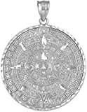 .925 Sterling Silver Round Aztec Mayan...