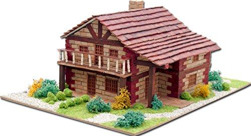 Keranova- Kit de cerámica Casa Montañesa, Color marrón (