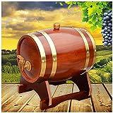 Barril de Roble Toneles para vino Barril de Madera Barril de roble, 1.5L / 3L / 5L / 10L Barril de madera vintage de roble Adecuado para Fabricación de cerveza o almacenar Cerveza, Vino, Whisky (con g