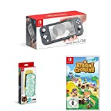 Nintendo Switch Lite, Standard, Grau + Animal Crossing: New Horizons + Nintendo Switch Lite Schutzhülle - Animal Crossing: New Horizon-Edition