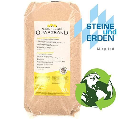 20kg Streugut Winter, Streusand, Streusalz Alternative, Umweltschonend sowie Tierfreundlich, Quarzsand