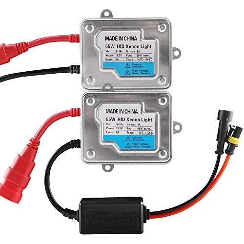 Chemini 2PCS 12V 55W Universal Car Digital Xenon DC HID Ballast Kit di conversione di ricambio universale per H1 H3 H7 H8 H9 H11 9005 9006 H4 D2r D2s