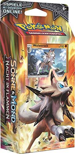 CAGO DIV 162-25917 Felsenfest - Pokémon - Sonne & Mond - Nacht in Flammen Themendeck mit 60 Karten