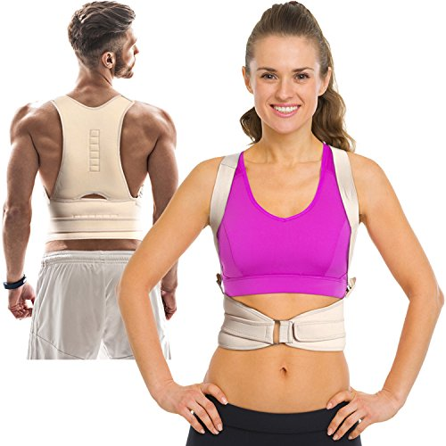 Thoracic Back Brace Posture Corrector - Magnetic Support for Back Neck Shoulder Upper Back Pain Relief Perfect Product for Cervical Spine Fully Adjustable with Magnets ARMSTRONG AMERIKA (XXL)