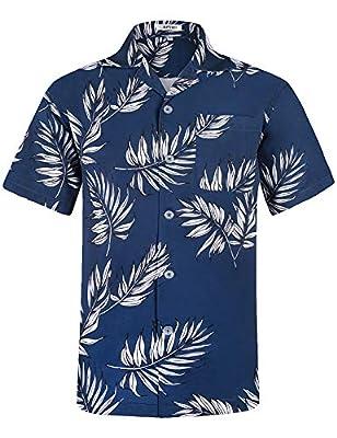 APTRO Men's Hawaiian Shirt Short Sleeve Funny Aloha Shirts