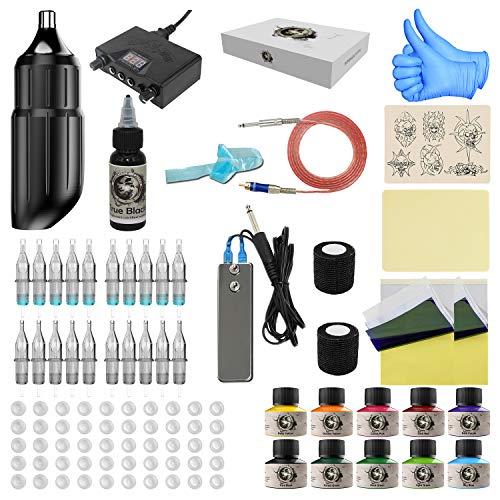 Wormhole Tattoo Pen Kit Tattoo Maschine Set Tattoo Pen Maschine Kit Rotary Tattoo Maschine Pen Professional Komplettes Tattoo Kit(WTK001)