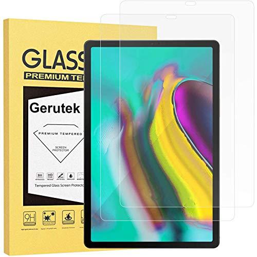 Gerutek [2 Stück Schutzfolie Samsung Galaxy Tab S5e / S6 10.5-Zoll, 9H Festigkeit, Anti-Kratzer, Anti-Öl, Anti-Bläschen, 2.5D Bildschirmfolie Für S6 10.5 T860/865, Panzerglas Bildschirmschutz Für S5e T720/T725