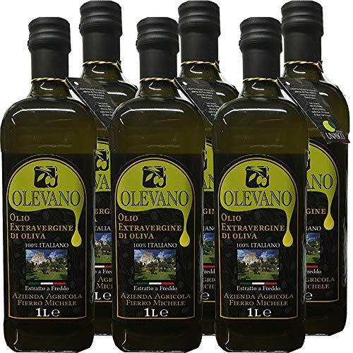 6 Litri Olio Extravergine d'Oliva | Frantoio Fierro | Tracciabilità singola bottiglia UNASCO | Confezione 6 Bottiglie da 1 L | 100% Olio Italiano | Estratto a Freddo | Idea Regalo