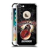 Ufficiale Motorhead Bomber Arte Chiave Cover Fender Nera Resistente agli Urti Compatibile con Apple iPhone 7 / iPhone 8 / iPhone SE 2020