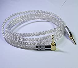 6ft (2meter) 8 Cores 4n Occ Silver Plated 3.5mm Male to 3.5mm Male Flat Braid Cable Handmade Stereo Headphone Car AUX Audio Hifi Audiophile Cable