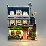 Up Kit Luce del LED per Lego Creator Expert Via Parigino Ristorante Building Blocks Lighting Set Compatile con 10243 (Non Includere Model)