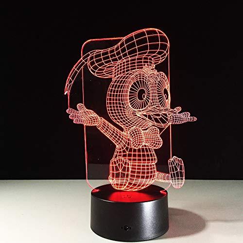 3D lamp bedlampje donald duck nachtlampje voor kinderkamer, led-lamp voor woonkamer perfect cadeau voor kinderen
