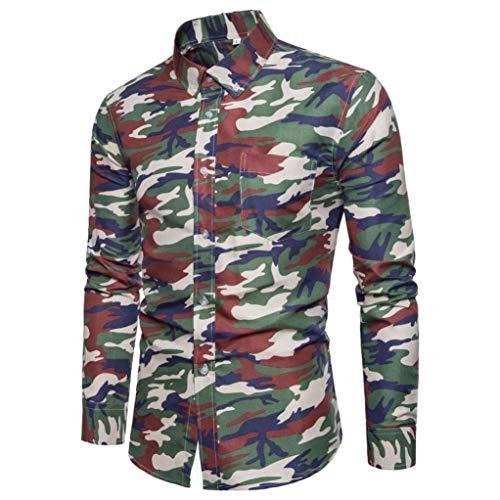 Tops Blouse Homme T-Shirt Sweater Sweatshirt, Surpass-1 T-Shirt Tunisien à Manches Longues pour Homme 100% Coton T-Shirt Homme -t-Shirt à Manches Longues pour Homme avec col en v et