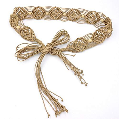 Cinlan Women's Bohemian Style Rope Braid Waist Belt (Style1)