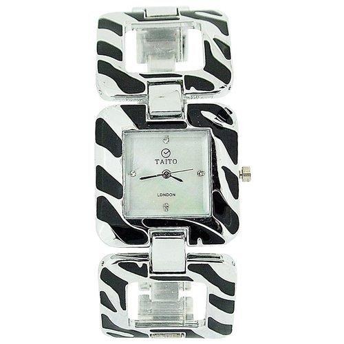 Taito London TLC1PNP/Black - Reloj para Mujeres, Correa de Metal Multicolor